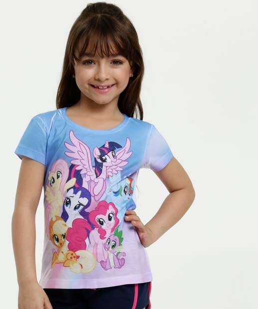 Image_Blusa Infantil Estampa My Little Poney Manga Curta Hasbro