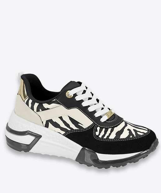 Image_Tênis Feminino Chunky Sneaker Animal Print Vizzano