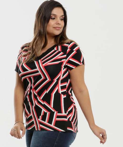 Image_Blusa Feminina Estampa Geométrica Plus Size