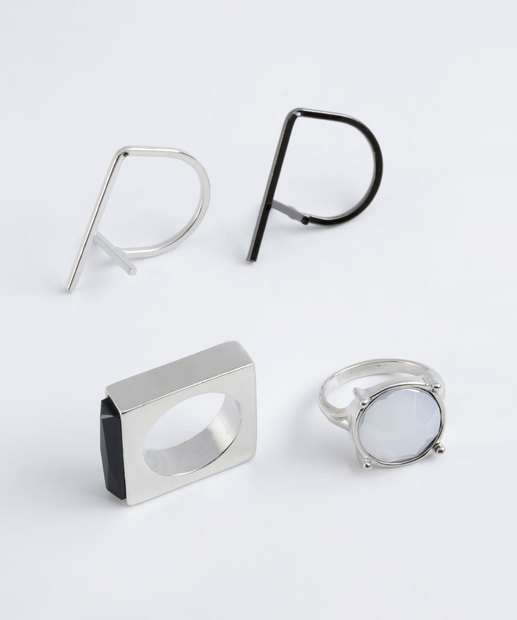 Image_Kit Feminino 4 Anéis Pedras Marisa