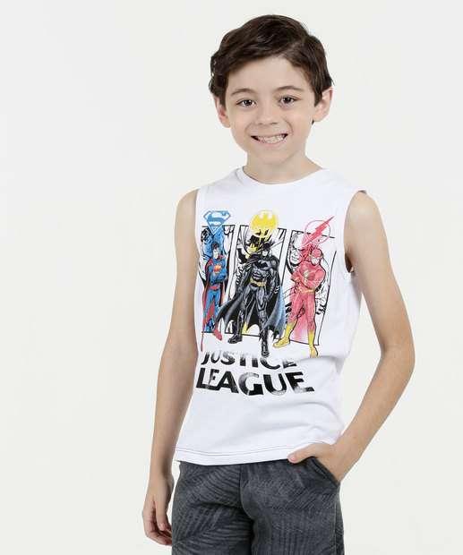 Image_Regata Infantil Estampa Heróis Liga da Justiça