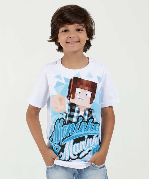 Image_Camiseta Infantil Estampa Frontal Manga Curta Authentic Games