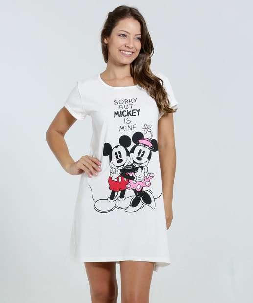 Image_Camisola Feminina Estampa Minnie e Mickey Disney