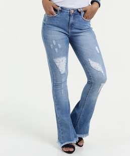 Calça Feminina Jeans Flare Puidos Marisa