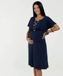 c88706ccd Vestido Feminino Maternidade Manga Curta