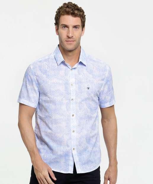 Image_Camisa Masculina Estampa Tropical Manga Curta