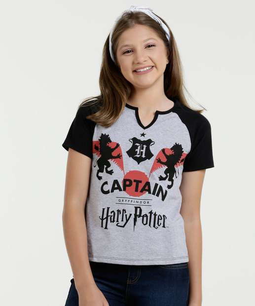 Image_Blusa Juvenil Harry Potter Manga Curta Warner Bross