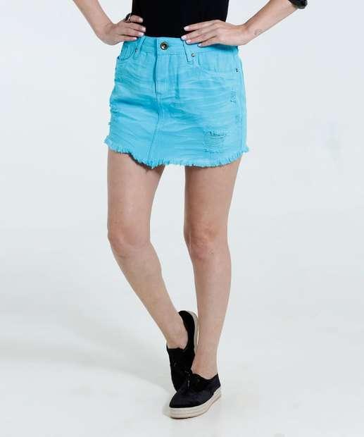 Image_Saia feminina em jeans color desfiada Marisa