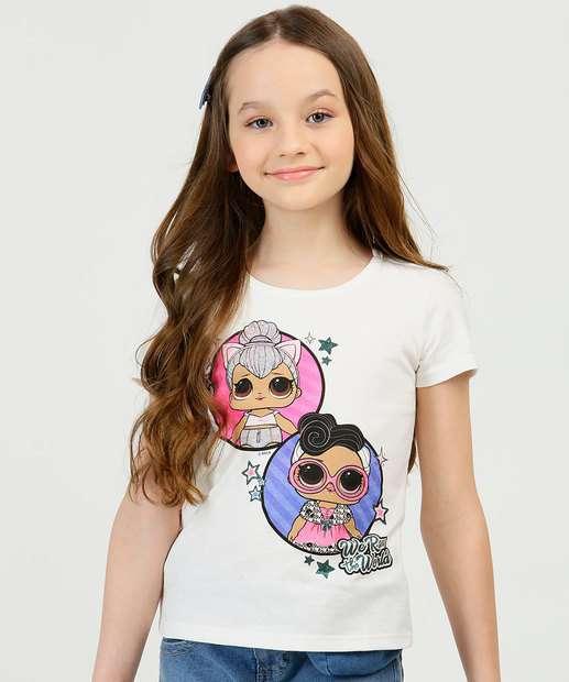 Image_Blusa Infantil Manga Curta Bonecas LoL Tam 4 a 10