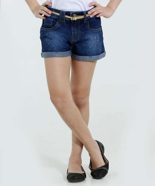 Image_Short Infantil Jeans Strass Cinto Brilho Marisa