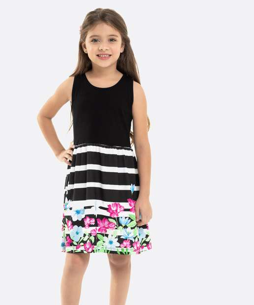 Image_Vestido Infantil Estampa Floral Regata Rovitex