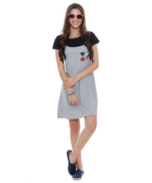 Image_Vestido Juvenil Slip Dress Patchs Marisa