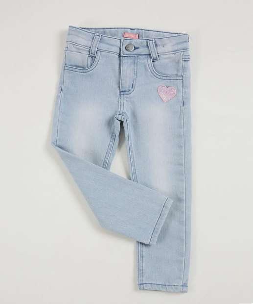 Image_Calça Infantil Jeans Bordado Marisa