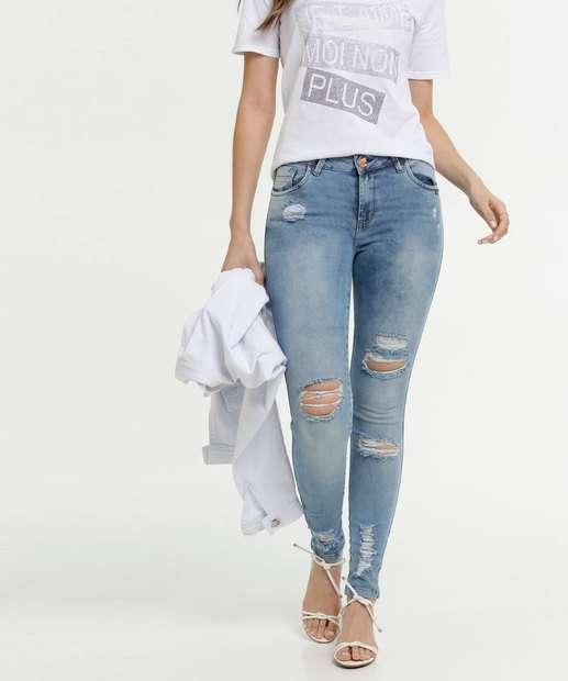 Image_Calça Skinny Feminina Destroyed Uber Jeans