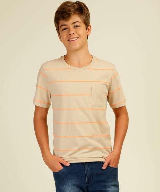 Image_Camiseta Juvenil Listrada Bolso MR Tam 10 a 16