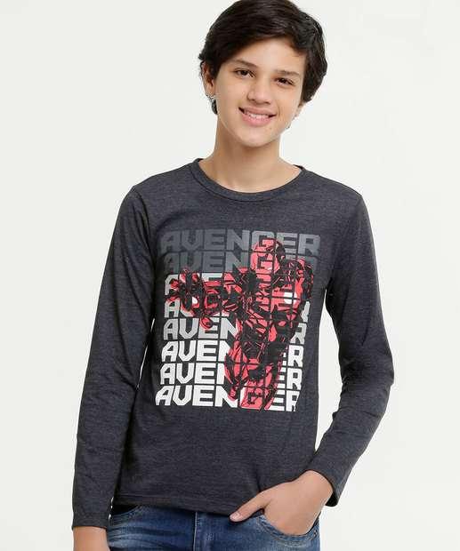 Image_Camiseta Juvenil Homem de Ferro Manga Longa Marvel