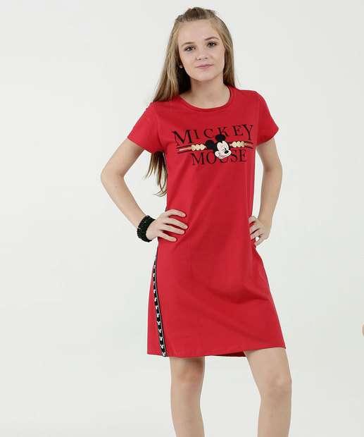 Image_Vestido Juvenil Faixa Estampa Mickey Manga Curta Disney