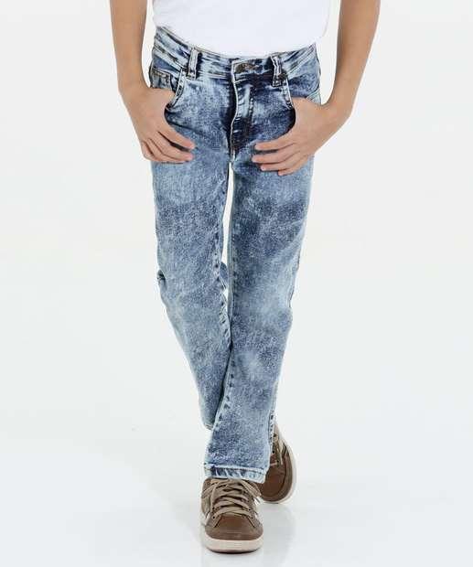 Image_Calça Infantil Jeans Marmorizado Marisa