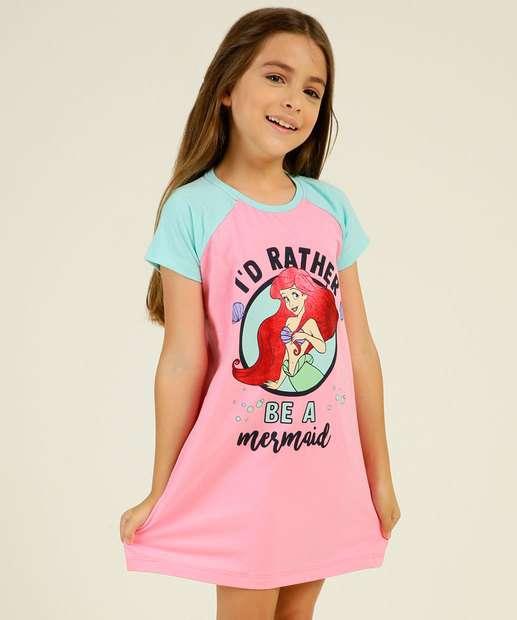 Image_Camisola Infantil Estampa Ariel Disney Tam 4 a 12