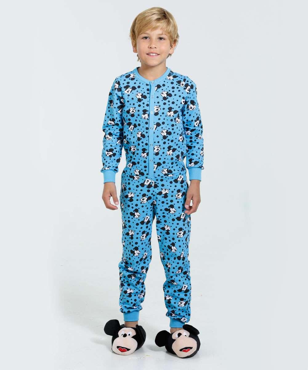 1d147bc8a458f3 Pijama Macacão Infantil Mickey Disney