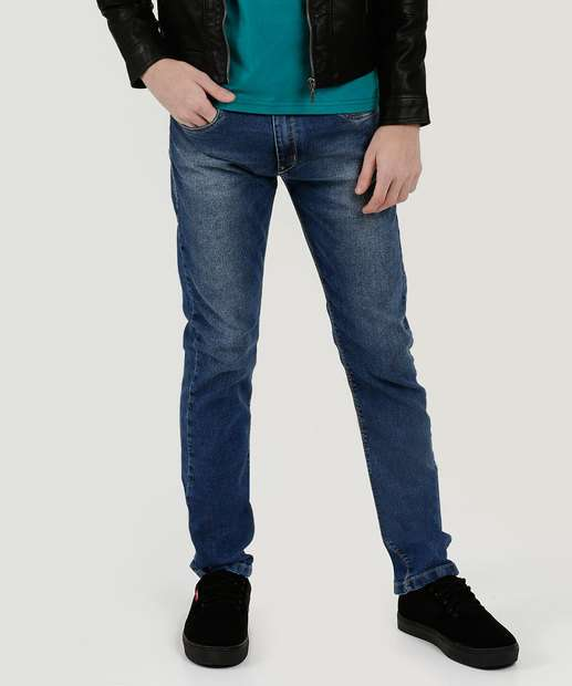 Image_Calça Juvenil Jeans Bolsos