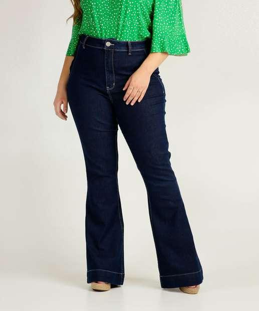 Image_Calça Plus Size Feminina Boot Cut Uber Jeans