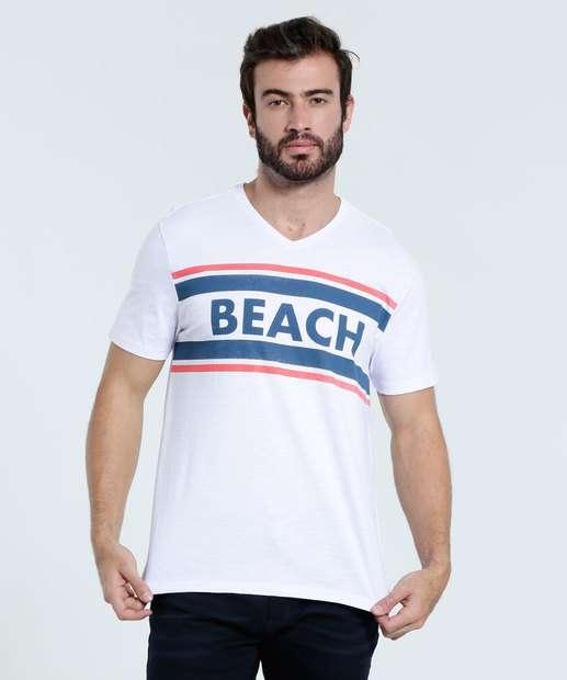Image_Camiseta Masculina Estampa Frontal Manga Curta Mar