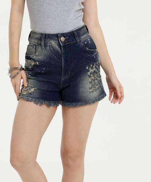 Image_Short Feminino Destroyed Desfiado Uber Jeans