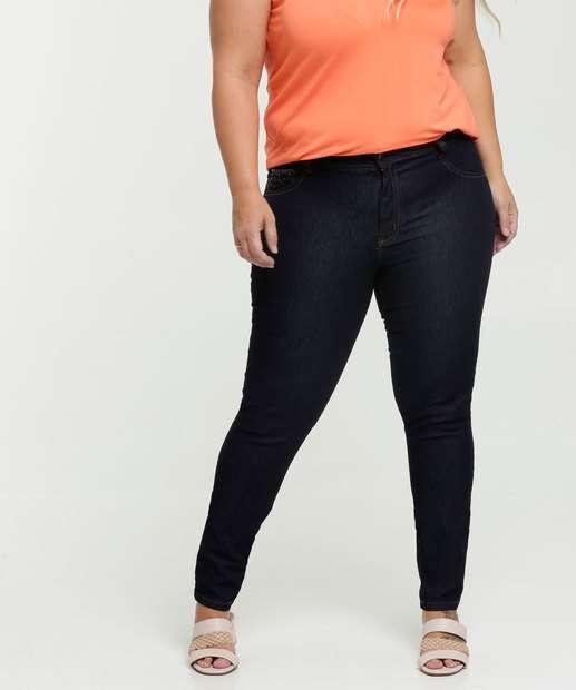 Image_Calça Feminina Jeans Skinny Plus Size Strass Biotipo