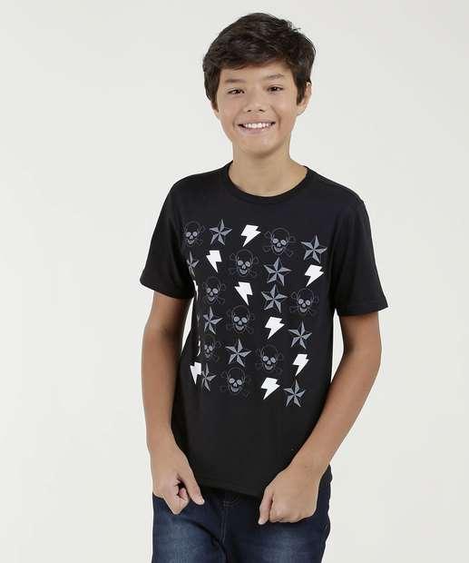 Image_Camiseta Juvenil Estampa Frontal Mr