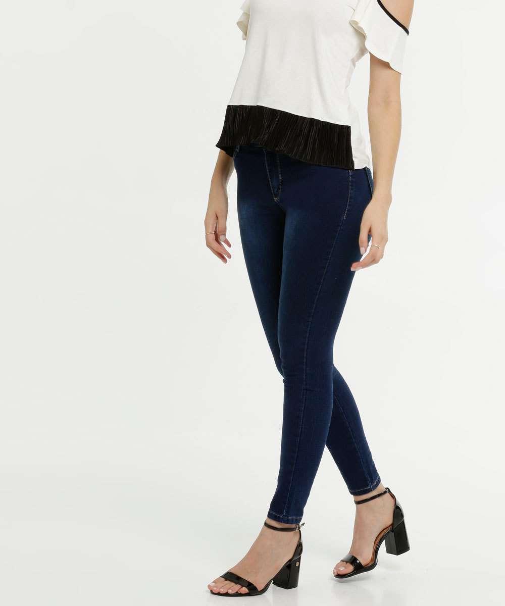 Calça Jeans Stretch Skinny Feminina Sawary