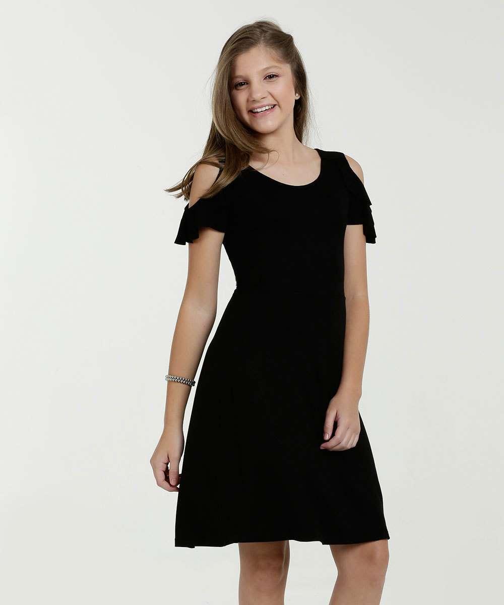07df937f9cbd Vestido juvenil babado tachas Marisa | Menor preço com cupom