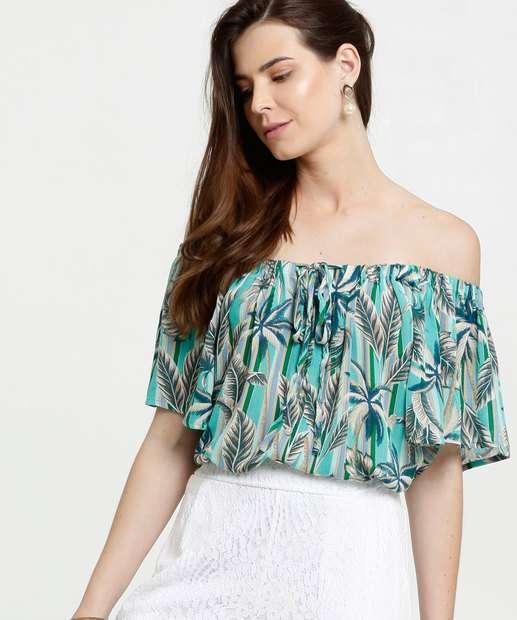 Image_Blusa Feminina Ombro a Ombro Estampa Tropical Marisa