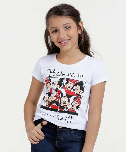 Image_Blusa Infantil Mickey Minnie Manga Curta Disney