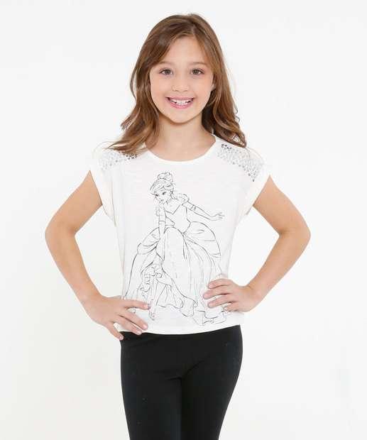 Image_Blusa Infantil Flamê Princesa Cinderela Disney