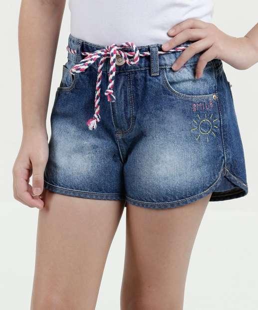 Image_Short Infantil Jeans Bordado Marisa