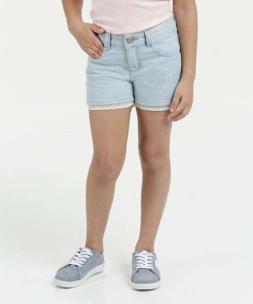 Image_Short Infantil Jeans Crochê Marisa