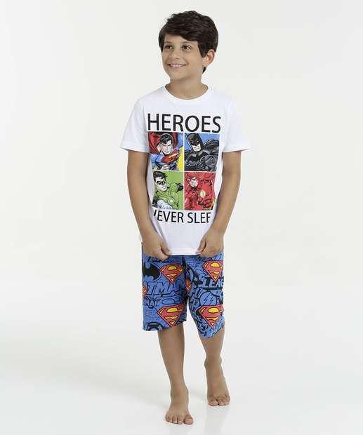 Image_Pijama Infantil Estampa Heróis Manga Curta Liga da Justiça