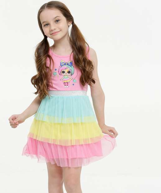 Image_Vestido Infantil Regata Estampa Lol Tam 4 a 10