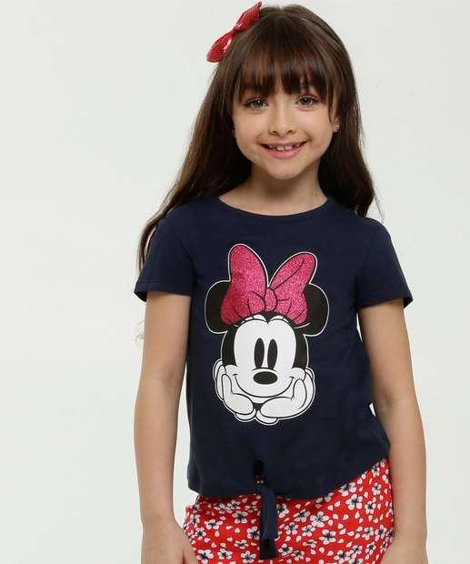 Image_Blusa Infantil Estampa Minnie Nó Manga Curta Disney