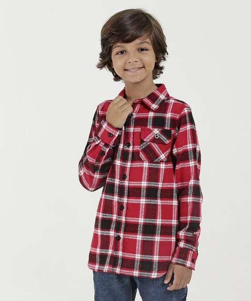 Image_Camisa Infantil Estampa Xadrez Manga Longa Mr