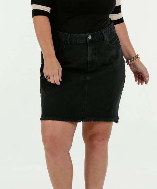 Image_Saia Feminina Jeans Barra Desfiada Plus Size Marisa