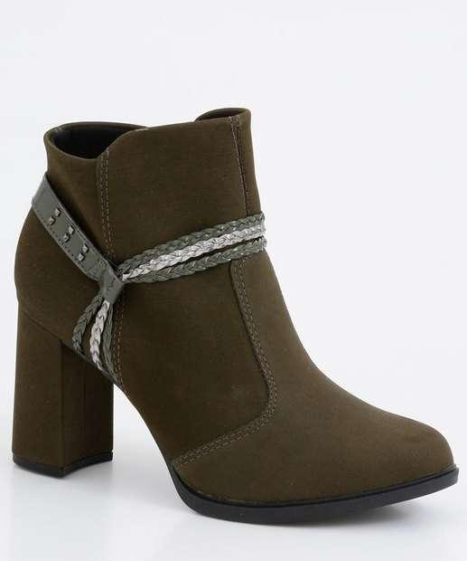 Image_Bota Feminina Ankle Boot Tiras Trançadas Mississipi
