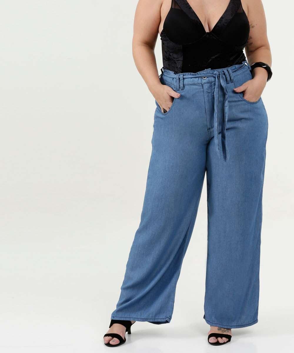 Calça Feminina Pantalona Clochard Plus Size Razon