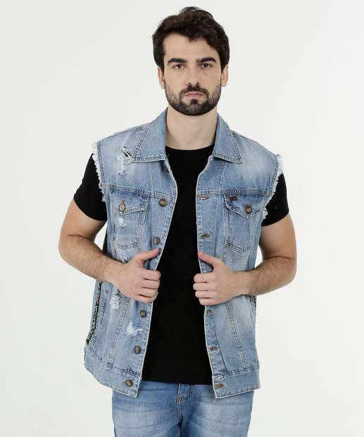 Image_Colete Masculino Jeans Destroyed Rock & Soda
