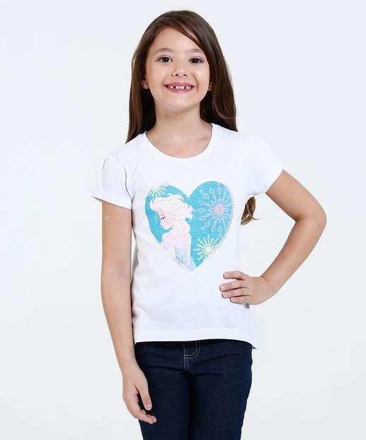 Image_Blusa Infantil Estampa Elsa Coração Disney