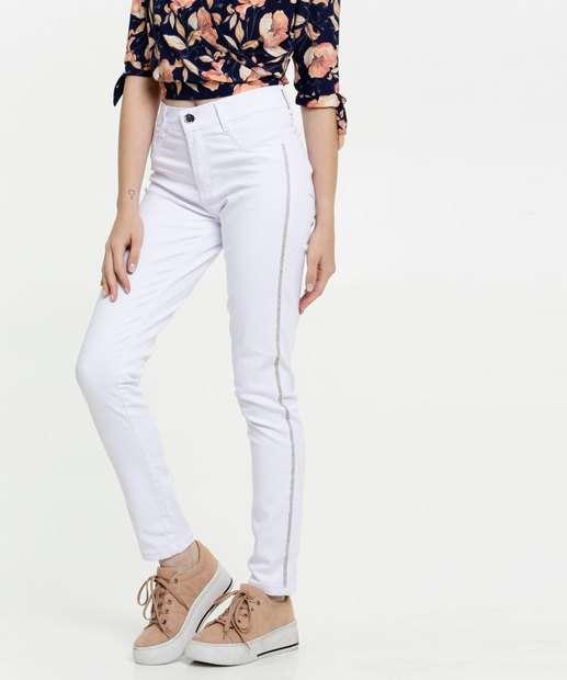 Image_Calça Jeans Skinny Feminina Strass Sawary