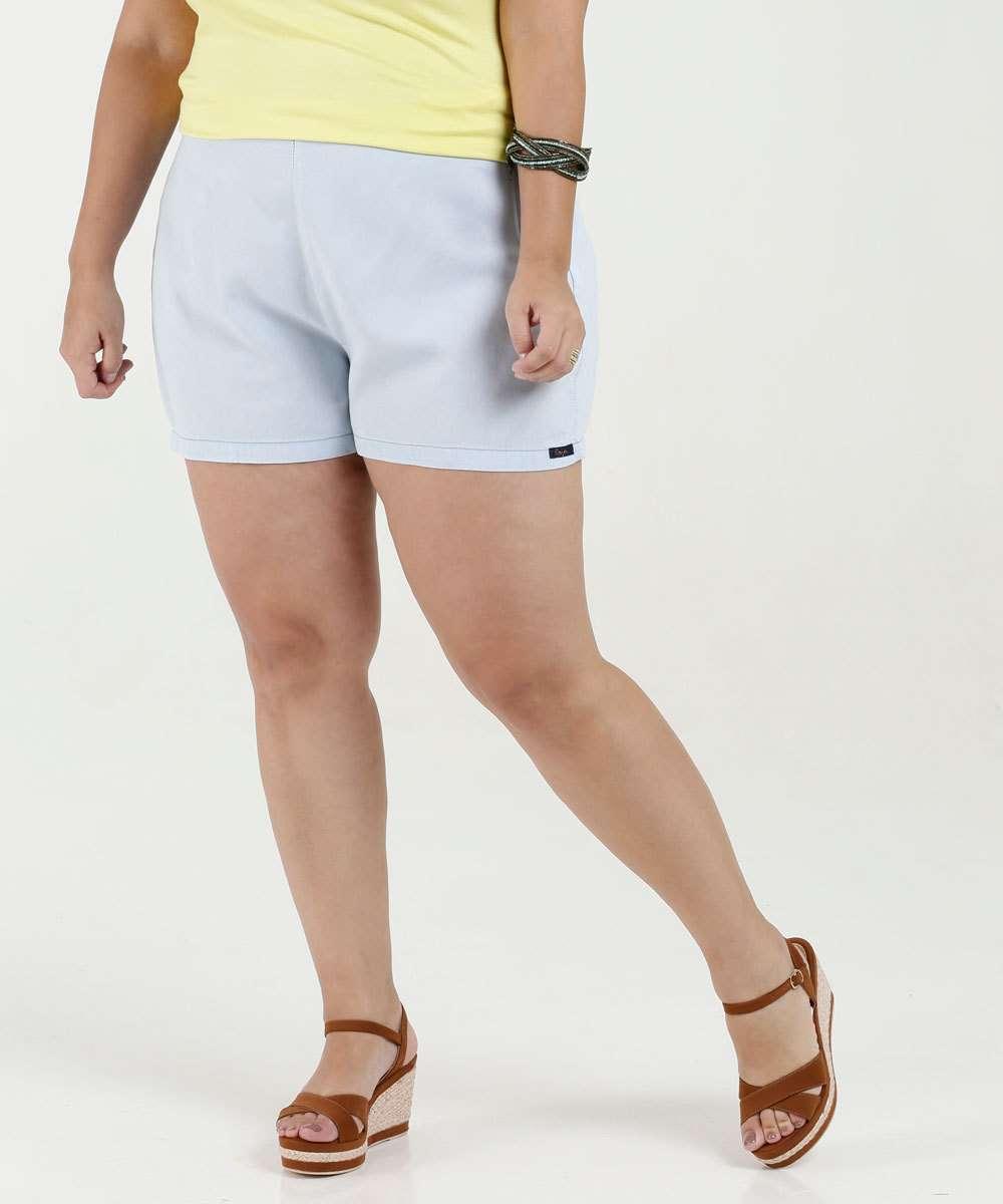 a63be3940 Short Feminino Tecido Plus Size Razon | Marisa