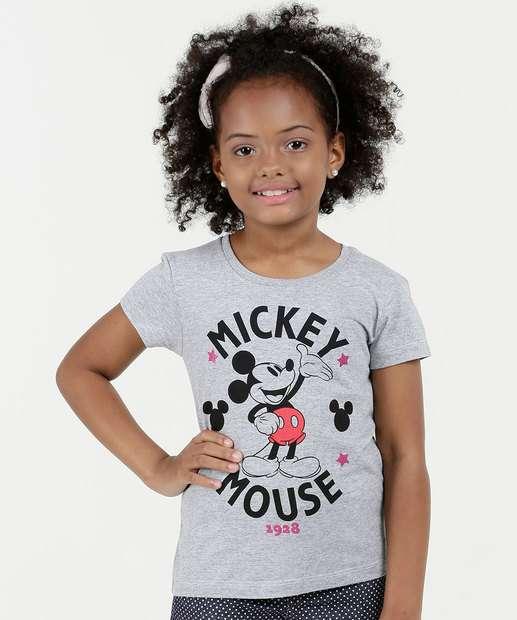 Image_Blusa Infantil Estampa Mickey Manga Curta Disney