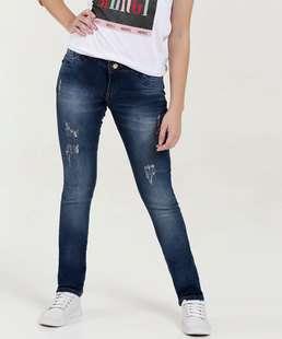 Calça Juvenil Jeans Destroyed